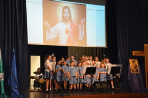 Our awesome choir and band leading us in praise and worship! Made up of students from the college and the primary school.